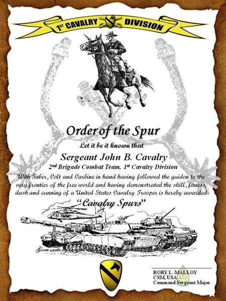 Cav Hat & Spurs | 1st Cavalry Division Association