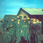 "Team 54 Sept 1970. From left: Sgt. Ulysses Jupiter, Andrew Allen, Gary Lorenz, Skip Thessin and James ""PeeWee"" Barrett."