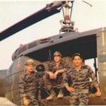Members of the first LRRP team. L to R: Sgt John Simones, ATL; SP4 Doug Fletcher, senior scout; & and Arthur Guerrero, scout.