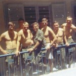 Nha Trang - 1969 Some agoin' and some acomin' to MACV Recondo School. From the left: Walter Kraft, Charlie Hasty, Sam Jones, Rex McElroy, George Richardson & Dan Roberts. Turner Harvell behind Hasty.