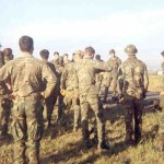 Rangers on the flight line for lift to An Loc during Easter offensive, 1972