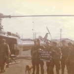 Rangers on helo pad in Saigon while VP Spiro Agnew is in town, 1972.