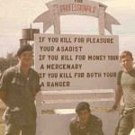 Back side of the ranger company sign that caused so many problems. Who are these rangers?
